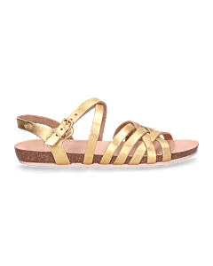 SANDAL-WITH-CORK-FOOTBED-METALLIC-LEATHER-Bronze