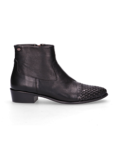 Ankle-boot-waxed-smooth-leather-Black