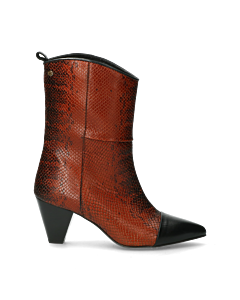 Fred-x-Lonneke-ankle-boot-snake-printed-leather-cognac