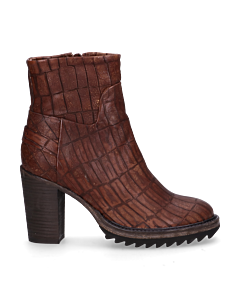 Ankle-boot-croco-printed-leather-Brown