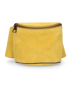 Hip-bag-suede-Yellow