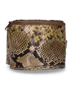 Hip-bag-snake-printed-leather-Green