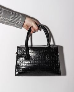 Handbag-printed-leather-Black