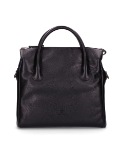 Medium-handbag-soft-smooth-leather-Black
