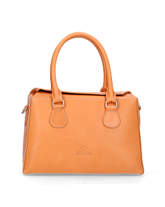 Handbag-smooth-leather-Cognac