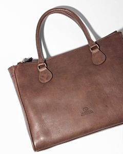 Handbag-smooth-leather-light-brown