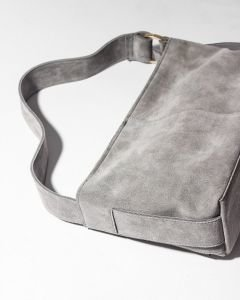 Shoulderbag-suede-Grey
