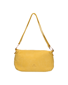 Shoulderbag-perforated-leather-yellow