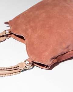 Shoulderbag-suede-and-smooth-leather-Rose
