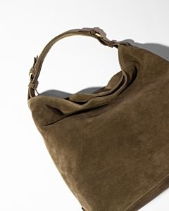 Shoulderbag-suede-green