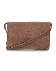 Evening-bag-hand-buffed-leather-Brown