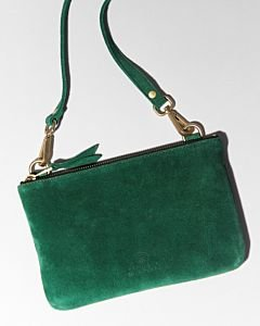 Evening-bag-suede-Green