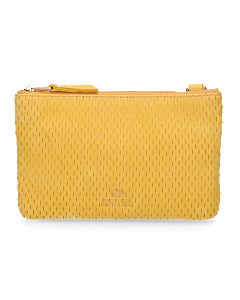 Evening-bag-sanded-leather-yellow