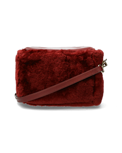 Crossbody-fur-dark-red