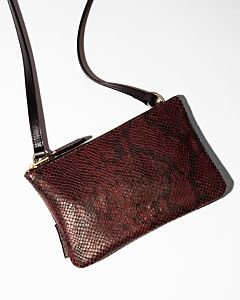 Crossbody-snake-printed-leather-aubergine