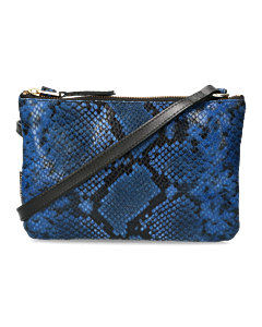 Crossbody-snake-printed-leather-dark-blue