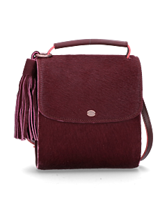 Cross-body-met-pony-bordeaux
