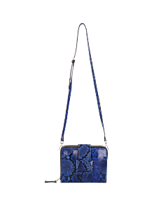 Crossbody-snake-print-leather-cobalt-blue