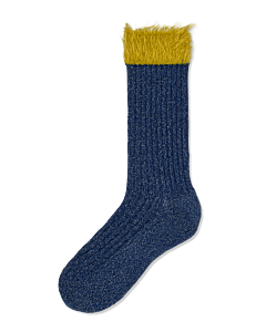 Knitted-Judit-mid-high-socks-Blue