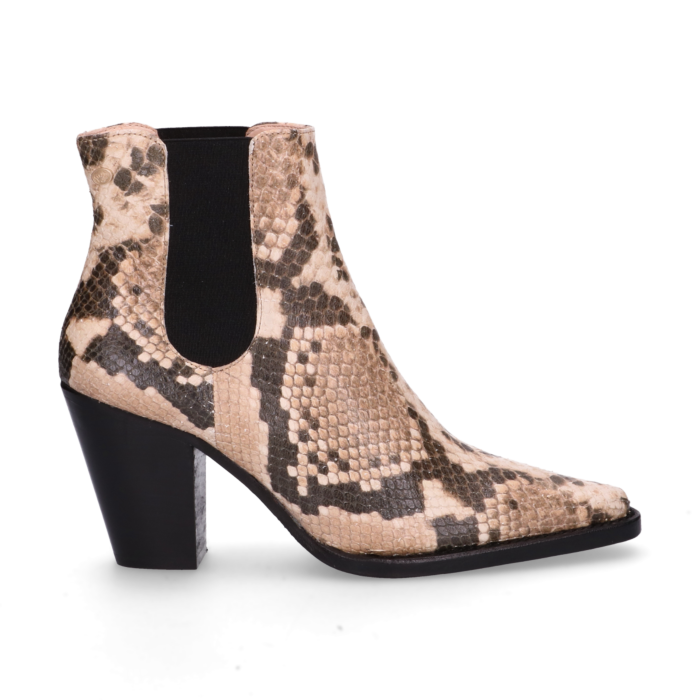 79ed64e10d31 Chelsea boot snake printed leather Taupe