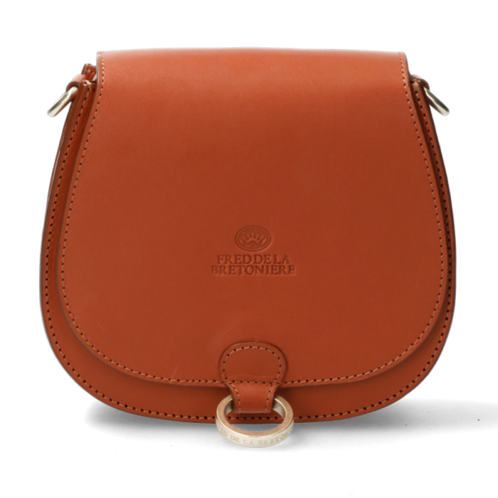 biggest discount big discount professional sale Crossbody natural dyed smooth leather cognac