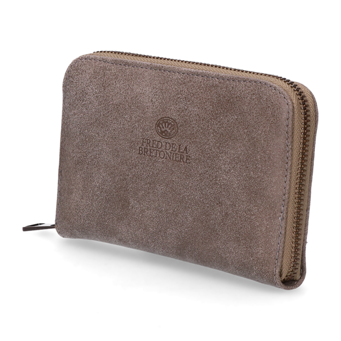 169301909fb Wallet small hand buffed leather Taupe