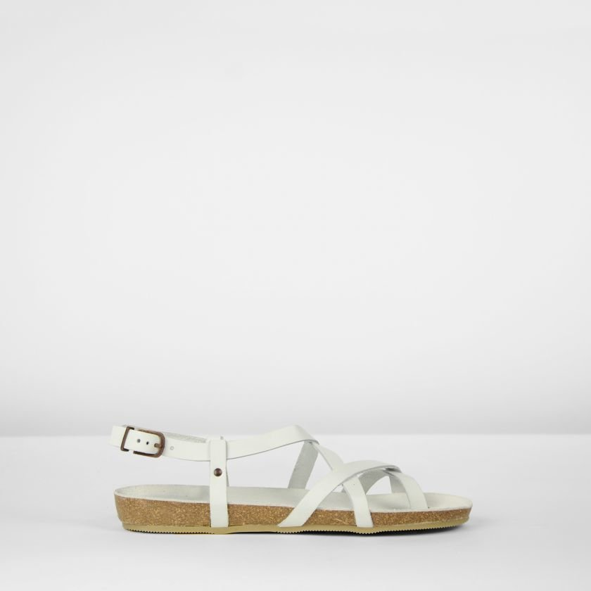 White leather sandal fred de la bretoniere 170010009 packshot