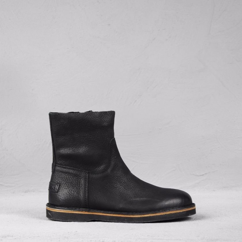 Ankle-boot-heavy-grain-leather-Black-