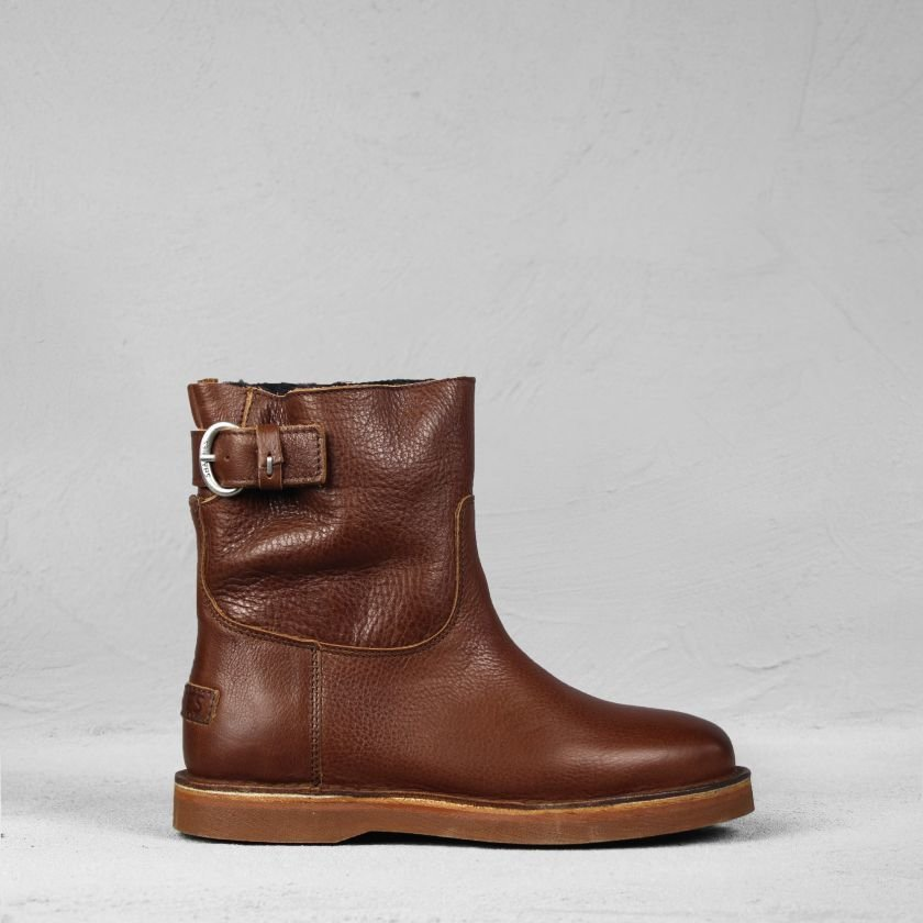 Ankle-boot-grain-leather-Brown