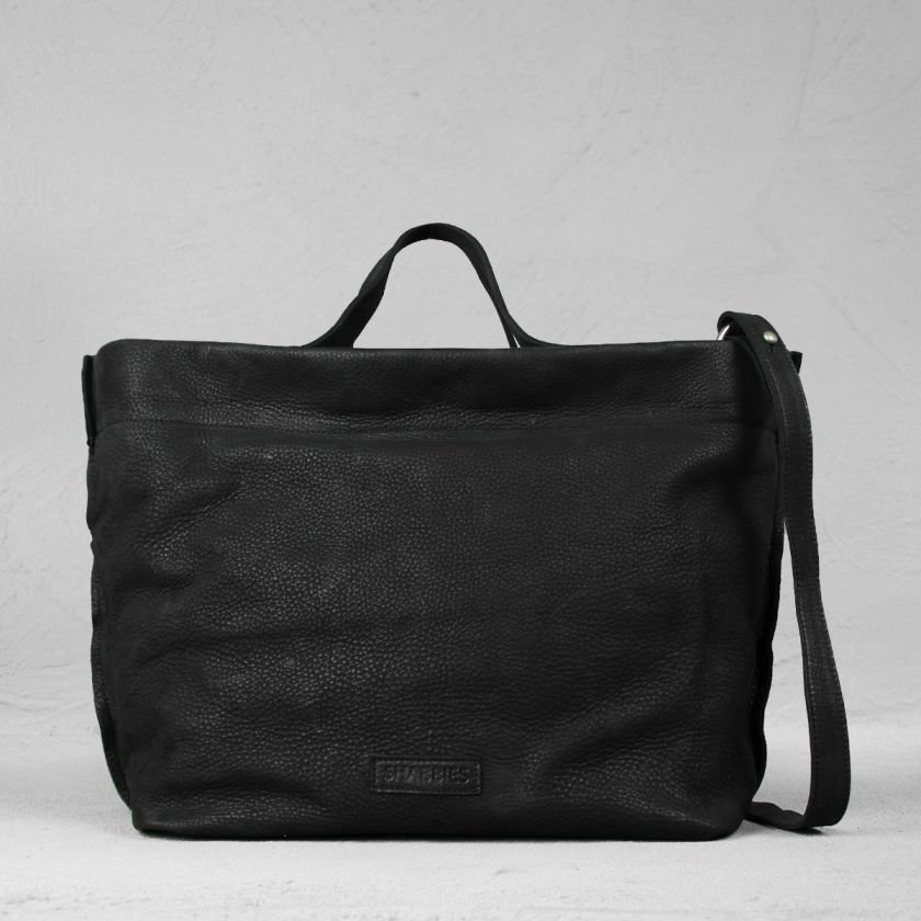 Handbag-waxed-grain-leather-Black