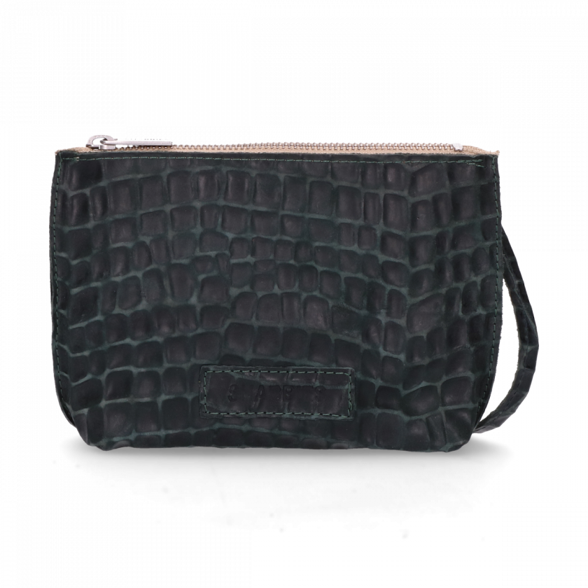 1d46479fd1f8 Cross body bag with croco print Green