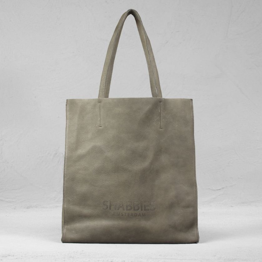 Shopping-bag-grain-leather-Taupe