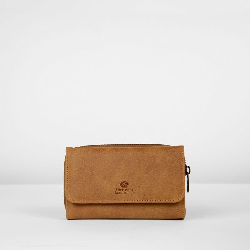 Wallet-hand-buffed-leather-Cognac