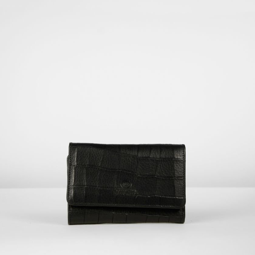 WALLET-SMALL-PRINTED-LEATHER-Black