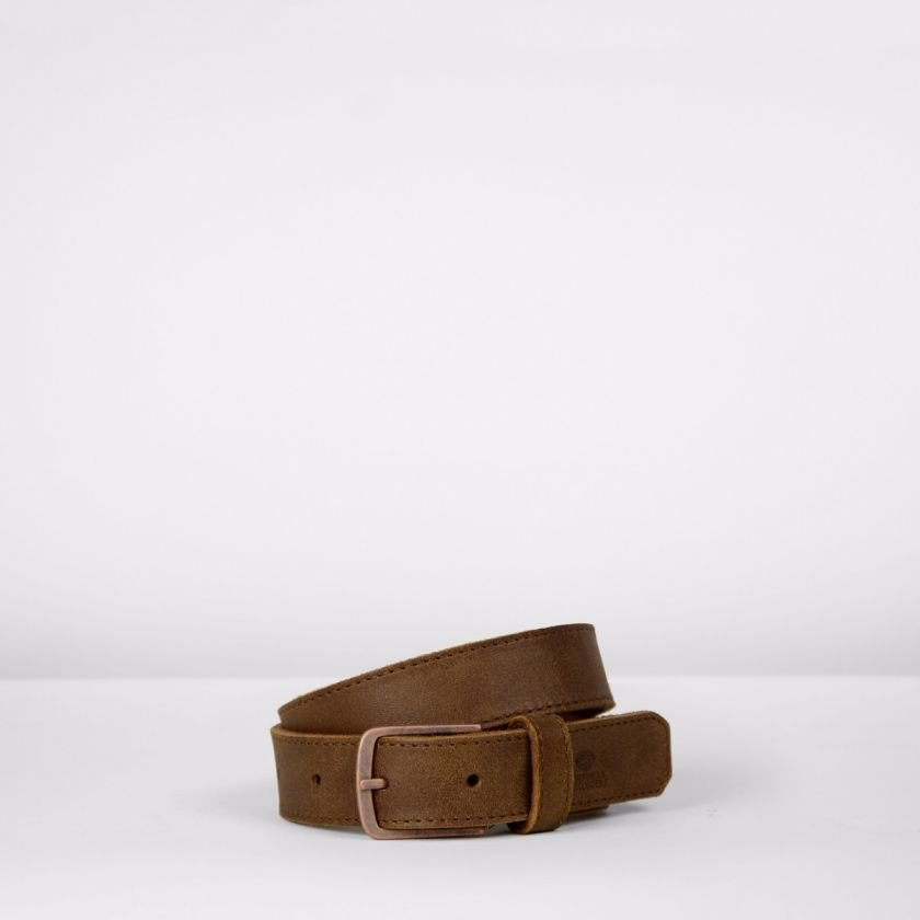 Belt-hand-buffed-leather-Brown