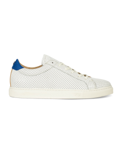 Sneaker-perforated-smooth-leather-white-blue