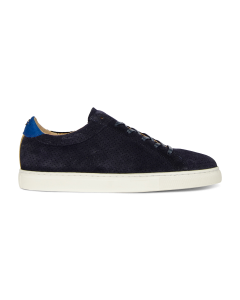 Sneaker-perforated-suede-dark-blue
