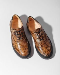 Sneaker-lizard-printed-leather-brown