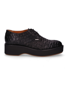 Lace-up-shoe-croco-printed-leather-Black-