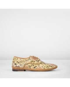 Lace-up-shoe-snake-print-leather-coral-rose-taupe