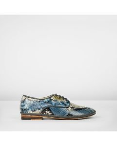 Lace-up-shoe-snake-print-leather-blue-green