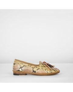 Loafer-snake-print-leather-coral-rose-taupe