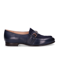 Loafer-smooth-leather-with-haircalf-Dark-Blue