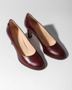 Pump-smooth-leather-Bordeaux