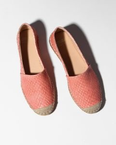 Espadrille-shiny-printed-leather-Red