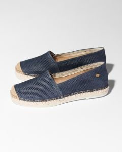 Espadrille-loafer-cutted-smooth-leather-Jeans-Blue-
