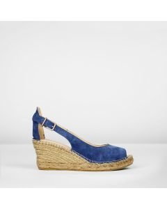 Espadrille-wedge-suede-with-buckle-blue