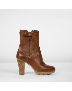 Ankle-boot-grain-leather-Cognac