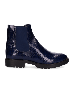 Ankle-boot-printed-patent-leather-Dark-Blue
