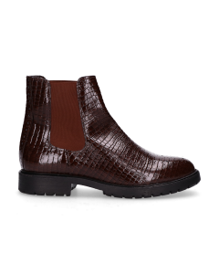Ankle-boot-printed-patent-leather-Dark-Brown